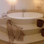 Lovely pampering bathroom at Porcupine Self Catering Cottage.