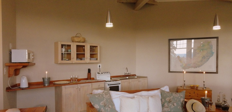 Porcupine Self Catering Cottage well equipped kitchen for comfortable self catering.
