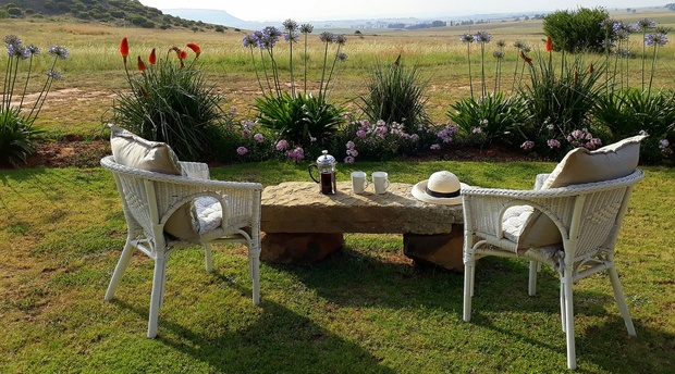 The view from Guinea Fowl Cottage at Amohela ho Spitskop Country Retreat Between Ficksburg & Clocolan in the Eastern Free State
