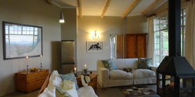 Porcupine Self Catering Cottage, with two bedrooms en suite, large open plan living area and big veranda.