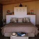 Guinea Fowl Self Catering Cottage on the border of Ficksburg & Clocolan Eastern Free  State Main Bedroom with King Size bed en suite