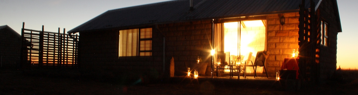 Francolin Self Catering Cottage one of the SkyWind Cottages at Amohela ho Spitskop Country Retreat between Ficksburg & Clocolan in the Eastern Free State.